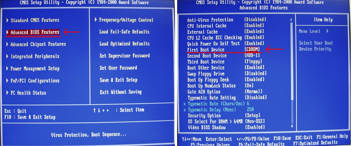 Как сделать загрузку с диска биос на ноутбуке