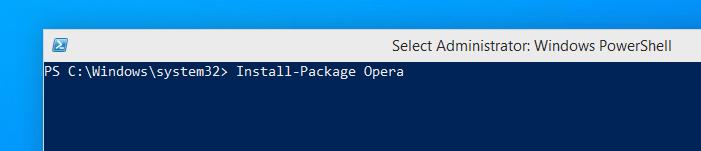 Запуск установки Opera