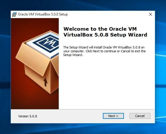 Wellcome to VirtualBox