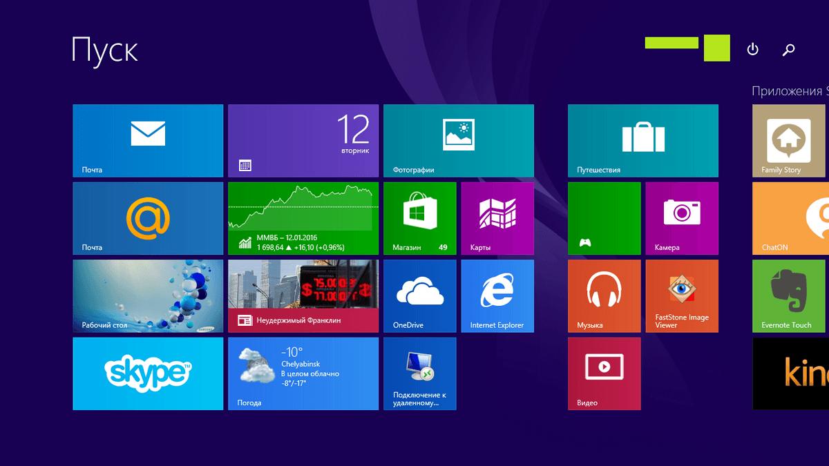 Пуск windows 8, 8.1