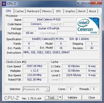 Intel Celeron 520