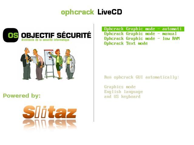 Программа ophcrack