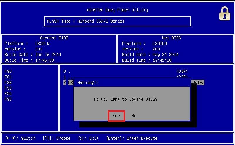 Как обновить биос файлом rom