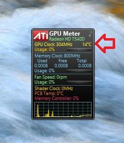 Отображение температуры gpu meter