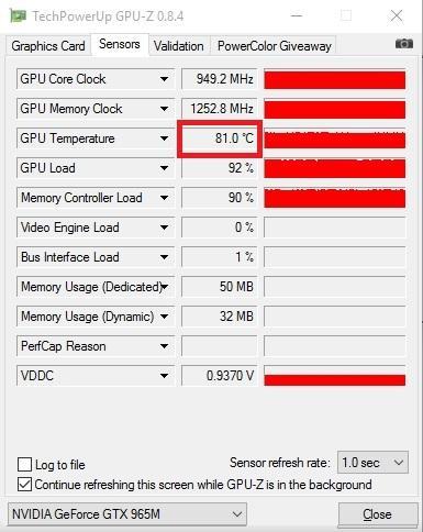 Замеры NVIDIA GeForce GTX 965M