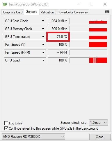 Замеры видеокарты AMD Radeon R8 M365DX