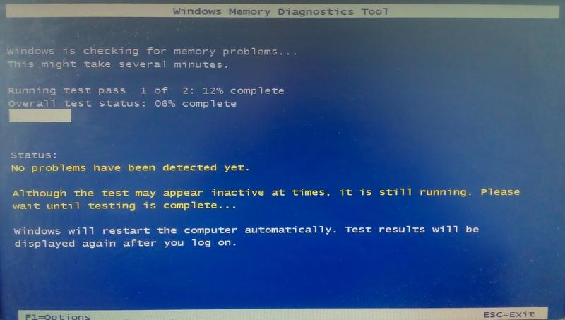 Процесс проверки памяти