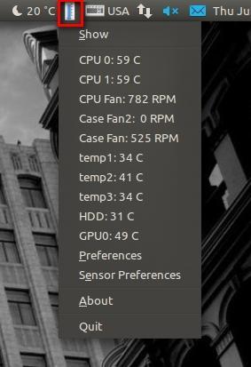 Индикатор в виде градусника