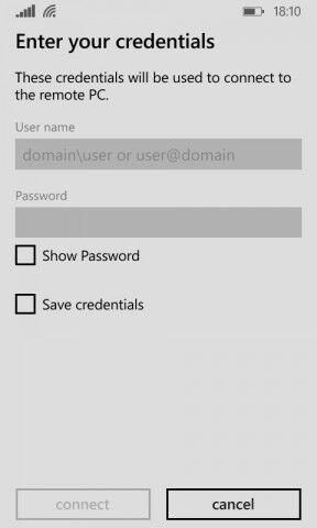 Набор IP адреса и пароля