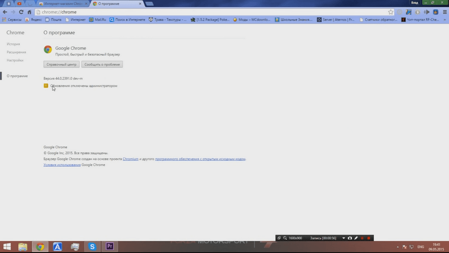 Версия браузера