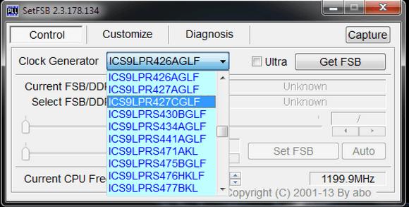 SetFSB тип генератора ТЧ