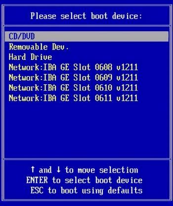 БИОС выбор Boot Device