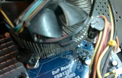 Установка радиатора с вентилятором