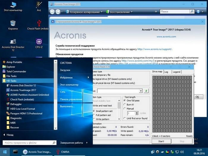 Windows PE Acronis
