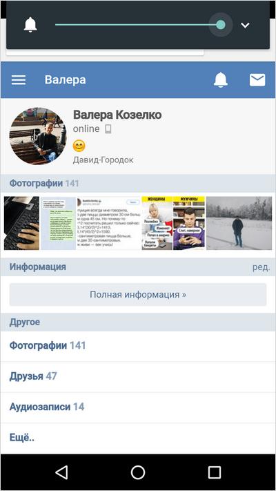 Страница в браузере на телефоне