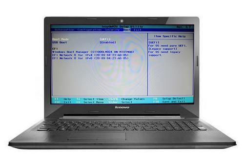 Как в ноутбуках Леново зайти в БИОС