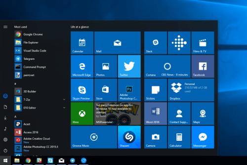Windows 10 внешний вид