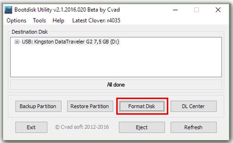 BootDisk выбор флешки