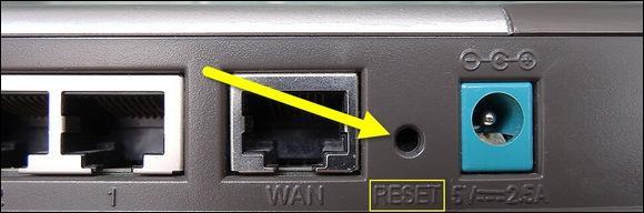 Местоположение кнопки сброса