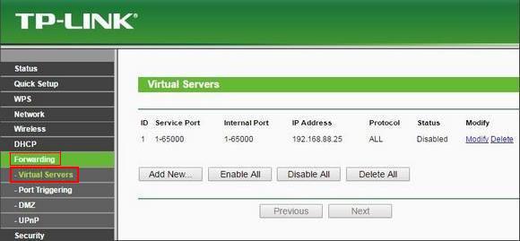 Forwarding Servers