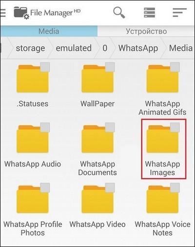 Папка WhatsApp Images