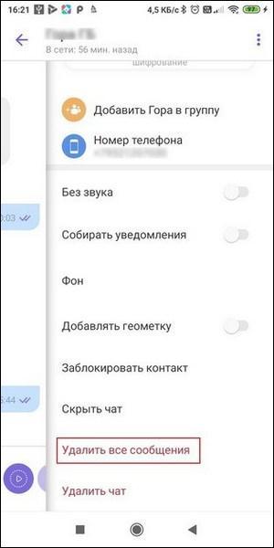 Информация чата