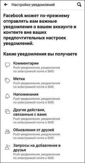 Настройки уведомлений