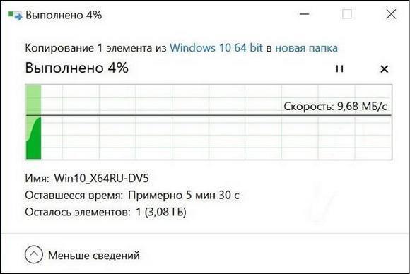 Скорость передачи файла