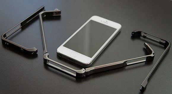 Айфон с металлическим бампером