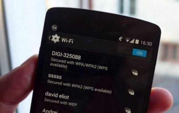 Сеть Wi-Fi на телефоне