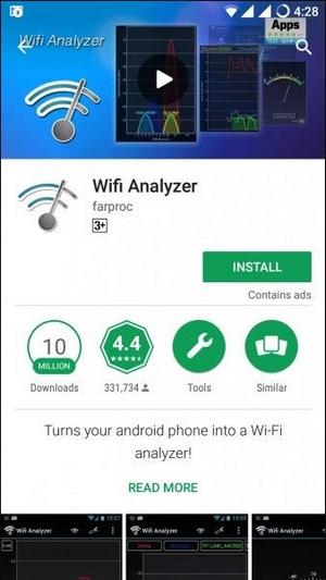 Приложение Wi-Fi Analyzer в Play Market
