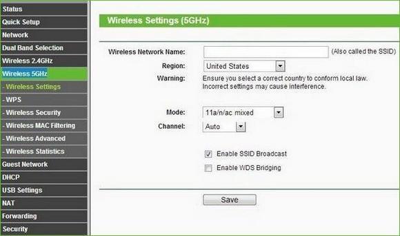 Настройка Wi-Fi 5 ГГц