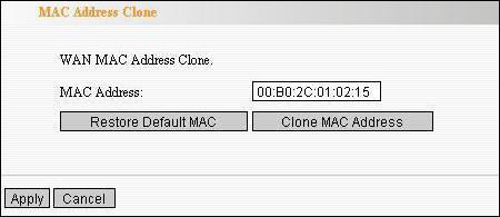 Настройка MAC-адреса