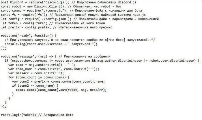 Основной код