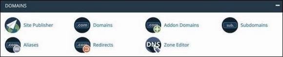 Раздел Domains
