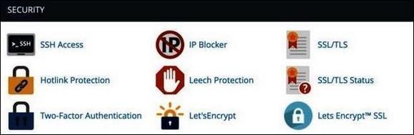 Раздел Security