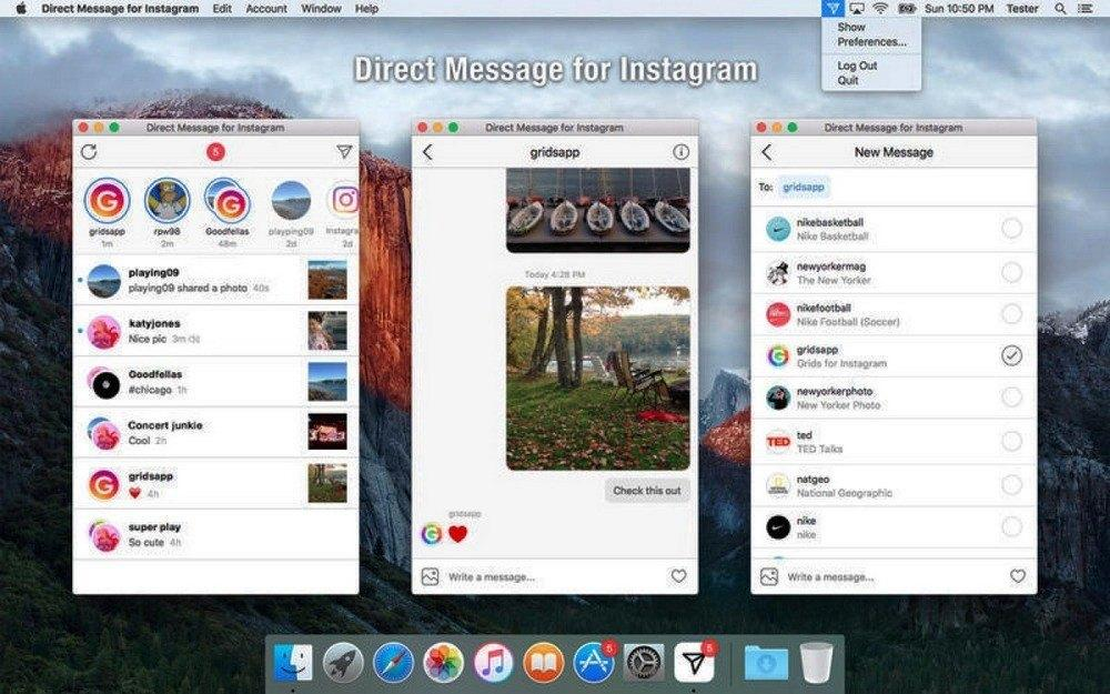 Direct message for instagram mac