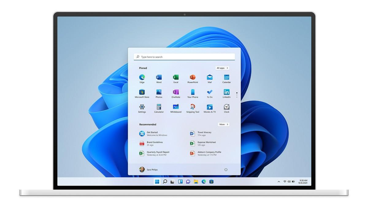 Так выглядит Windows 11 на экране ноутбука