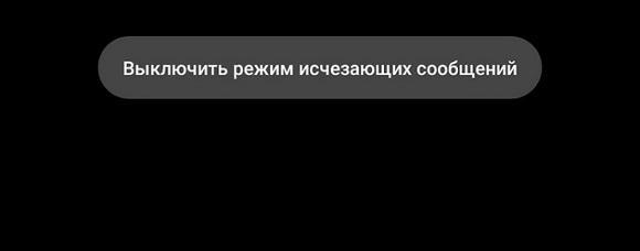 Кнопка выключить режим исчезающих сообщений